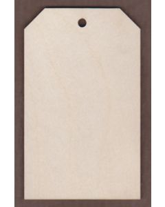 "WT1643-1 Small Cut Corner Gift Tag-2 3/4"" tall x 1 3/4"" wide"