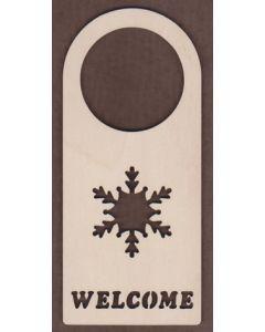 WT1673-Laser cut Door Hanger-Welcome-snowflake
