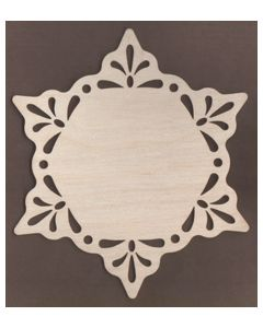 WT1915-Laser cut Coaster Scroll Snowflake