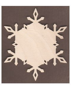 WT1907-Laser cut Diamond Plain Snowflake