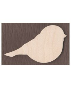 "WT2537-Laser cut Chickadee-3/4"" tall-Bag of 25 Only"