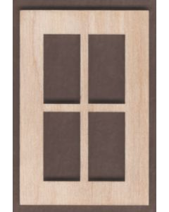 WT1820-Laser cut Window-Square-4 Pane-Narrow-Short