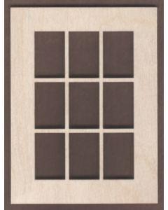 WT1822-Laser cut Window-Square-9 Pane