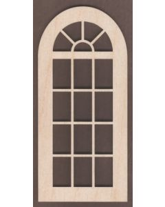 WT1826-Laser cut Window-Arched Top-17 Pane-Large
