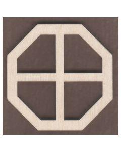 WT1827-Laser cut Window-Octagon-4 Pane-Small