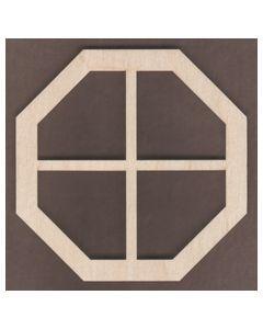 WT1829-Laser cut Window-Octagon-4 Pane-Large