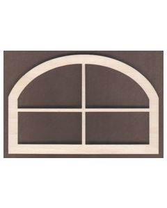 WT1833-Laser cut Window-Arched Top-4 Pane