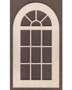 WT1834-Laser cut Window-Arched Top-14 Pane-Large