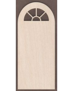 WT1840-Laser cut Door-Entrance-5 Pane-Arched Window-Round Top