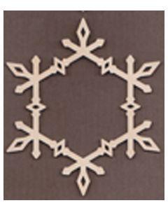 "WT1879-1-laser cut Diamond Snowflake Frame-5 1/8"" tall x 4 1/2"" wide"