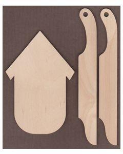 WT1872-Laser cut Bird House Sleigh Kit