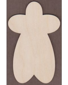 "WT2541-Laser cut Gingerbread Man-1 1/4"" tall-Bag of 25 Only"