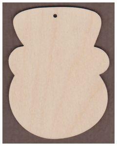 WT1967-Laser cut Snowman face Ornament