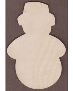 WT1976-Laser cut Snowman-Old Fashioned