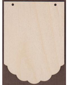 WT2155-Laser cut Scalloped Bottom Banner-Long