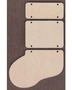 WT2205-Laser cut 3 Piece Stocking Kit