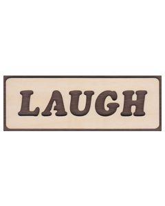 WT2111-Laser cut Laugh Sign-Cutout