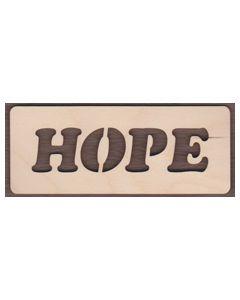 WT2108-Laser cut Hope Sign-Cutout