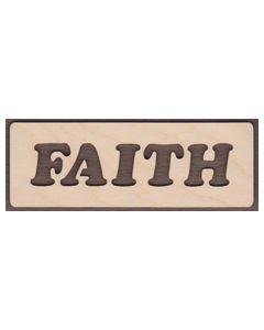 WT2110-Laser cut Faith Sign-Cutout