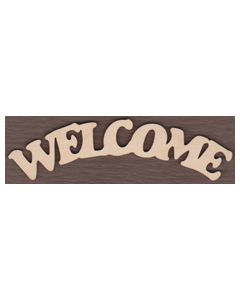 "WT2030-Welcome Sign-Arched Up-12 5/8"" wide x 3.5"" tall"