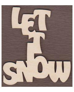 WT2103-Laser cut Let it Snow Sign-Vertical