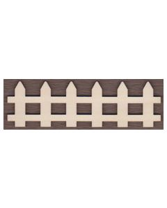 WT2241-Laser cut Traditional Picket Fence-6 Picket