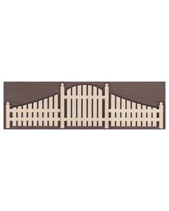 WT2239-Laser cut Gate with Fence 3 Piece Kit-Large