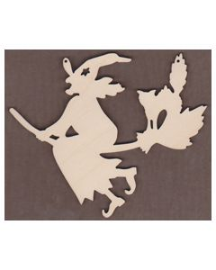 WT2290-Laser cut Witch on Broom