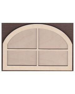 WT1880-Laser cut Short Oval Top Window 2 Piece Frame Kit