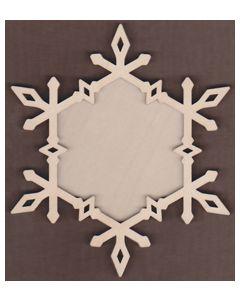 WT1879-Laser cut Diamond Snowflake 2 Piece Frame Kit