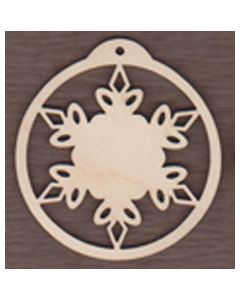 WT1973-Laser cut Ball Ornament-Whistler Snowflake