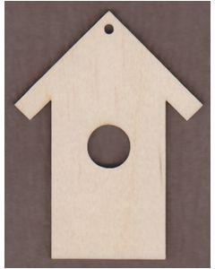 WT2339-Laser cut Bird House Ornament