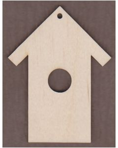 "WT2340-1 Bird House Ornament-9"" tall x 6 7/8"" wide"