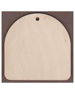 WT2482-Laser cut Gift Tag-Round Top Wide