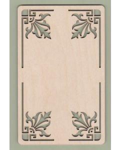 """WT3621 Ornamental Corner Plaque 6"""" wide x 9 5/8"""" tall"""