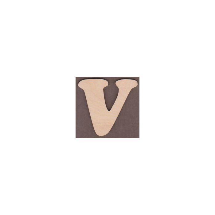 Laser cut Letter V