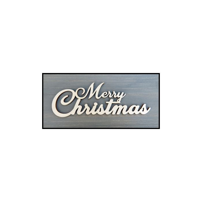 WS2309 One piece Laser Cut Merry Christmas Sign 12