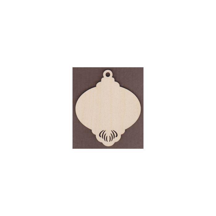 WT2653-Laser cut Ornament-Bottom Scroll-Plain