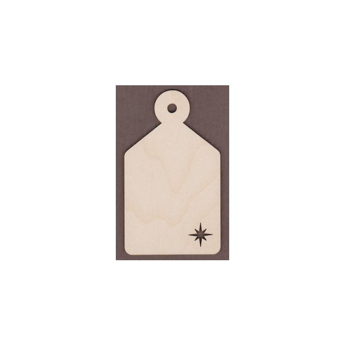WT9030-Laser cut Tapered Gift Tag Star Bottom-3