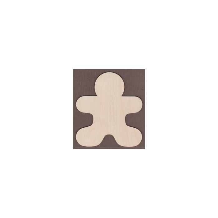 WT9327-laser cut Gingerbread Man-3 1/2