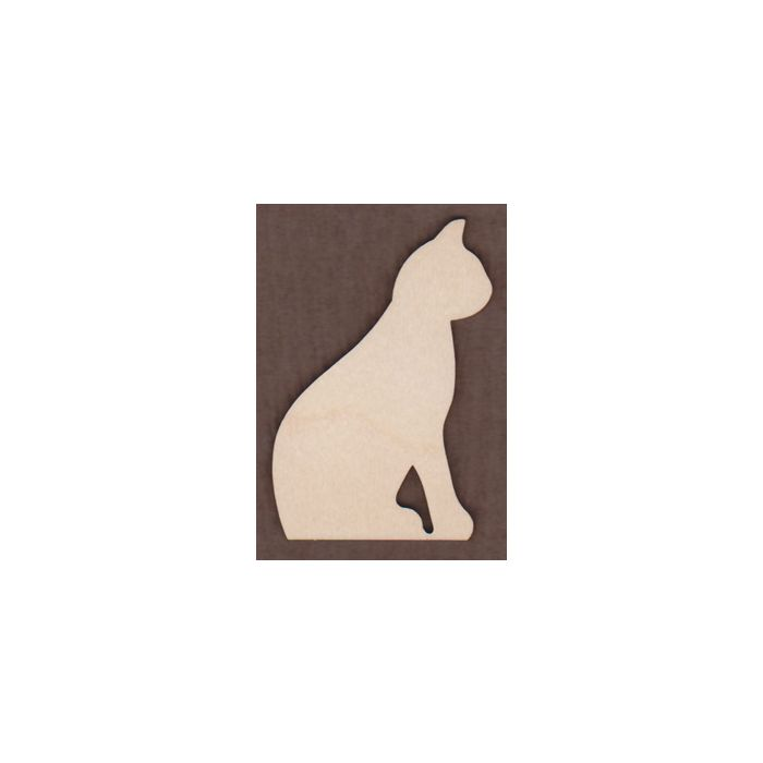 WT2861-Laser cut Sitting Cat