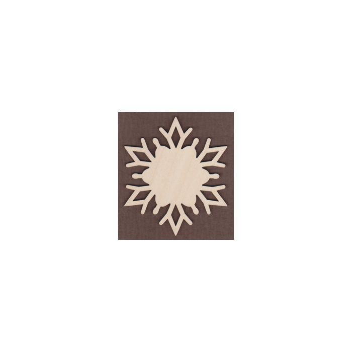 WT1135-Laser cut Alpine Snowflake