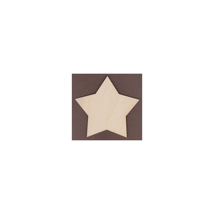 WT1298-Laser cut Pointed Country Star