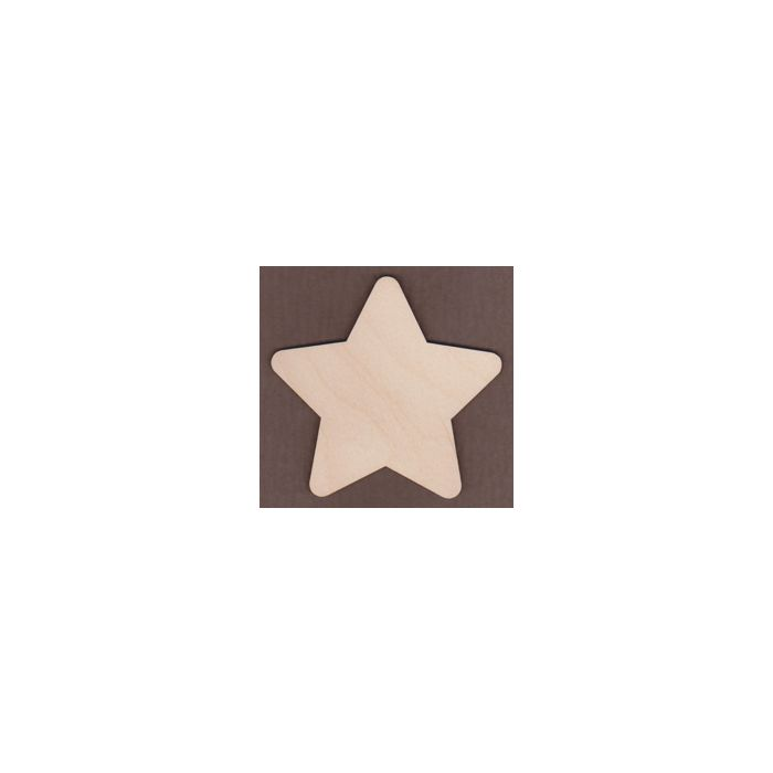 WT1278-Laser cut Round Country Star