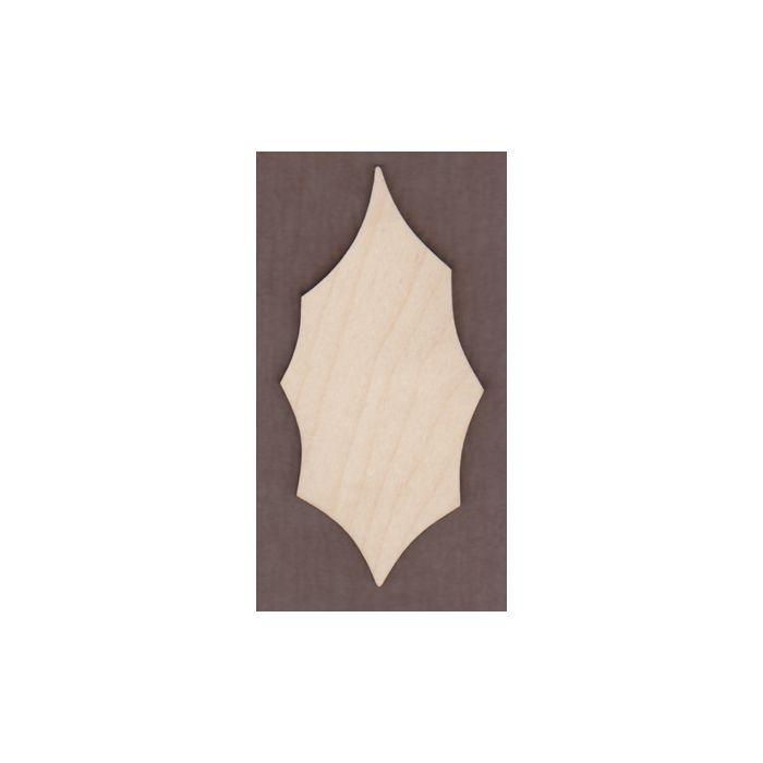 WT1536-Laser cut Holly Leaf