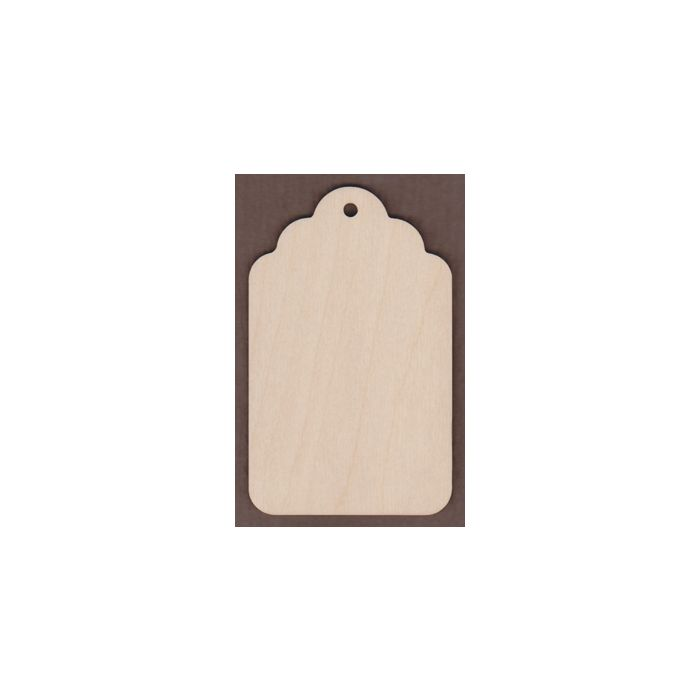 WT1645-Laser cut Small Gift Tag-Plain