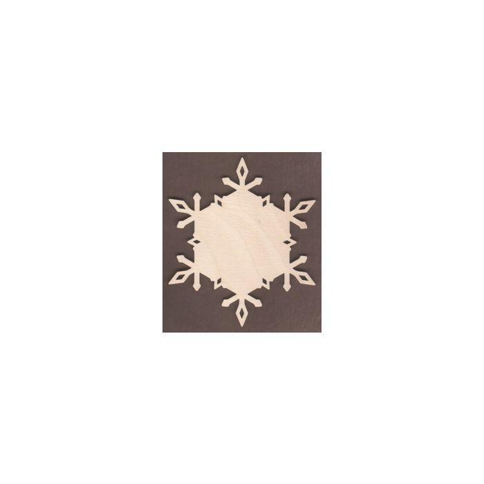 WT1902-Laser cut Diamond Plain Snowflake