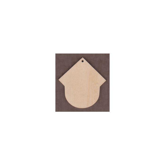 WT2257-Laser cut Short Birdhouse Ornament