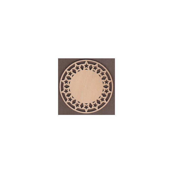 WT1950-Laser cut Star Circle Plaque