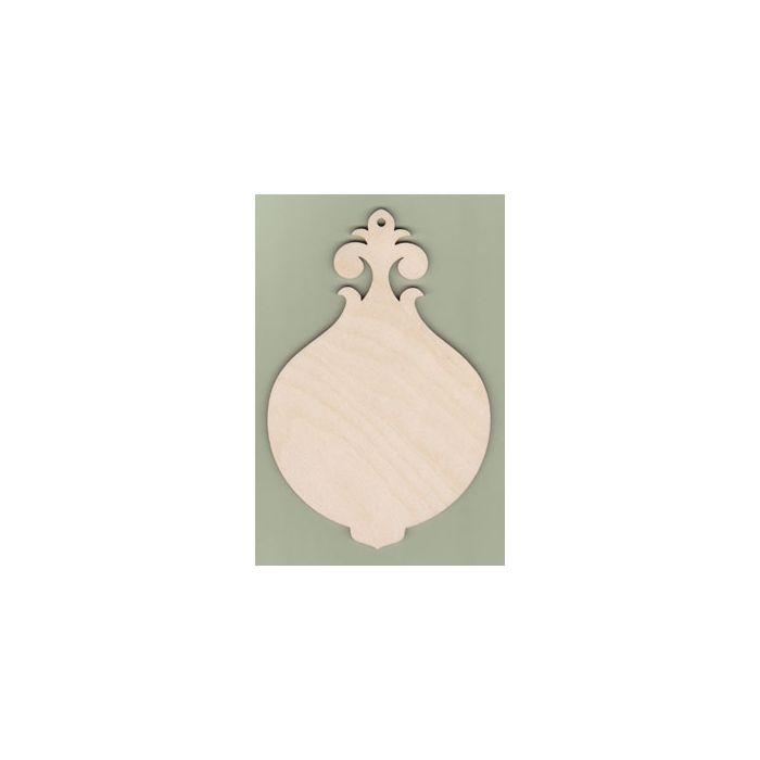 WT3601 Round Flower Top Plaque 6 1/8